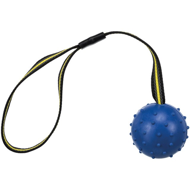 Trixie, sporting boll på nylonband, naturgummi, 7/35 cm