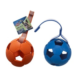 Trixie, sportingboll m. band, 7cm