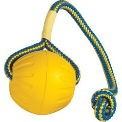 Starmark, foam ball, boll m. rep, 9,5cm, gul, large