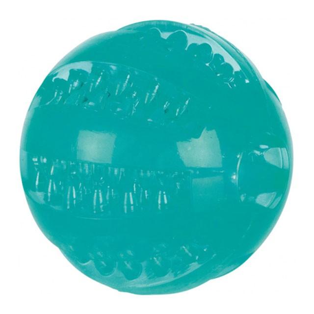 Trixie, DentaFun, boll m. mintsmak, 6cm, turkos