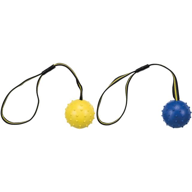 Trixie, sporting boll på nylonband, naturgummi, 6/35 cm