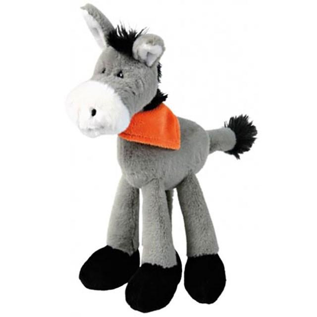 Trixie, åsna i plysch m. pipljud, 24cm
