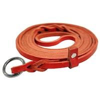 Limex, retrieverkoppel, läder, 6mm/180cm, röd