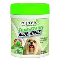 Espree, tear stain aloe wipes, 60st