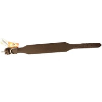 Gibbon, halsband i läder, brun 50mm/60cm