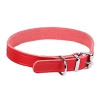Limex, läderhalsband, 25mm/70cm, röd