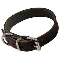 Limex, läderhalsband, 25mm/65cm, svart