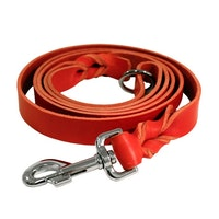 Limex, läderkoppel, 180cm, röd