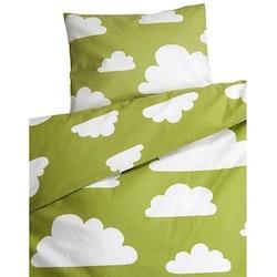 Färg & Form, moln, påslakanset till vagn/vagga, grön
