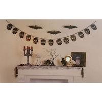Halloweendekoration, döskallegirlang