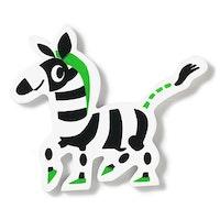 Mickis vilda vänner, zebra