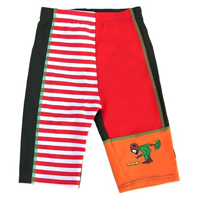 Swimpy, Pippi Långstrump, uv-shorts, röd, strl 80-92