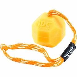 Julius K9, fluorescerande boll m. rep, 6cm, orange
