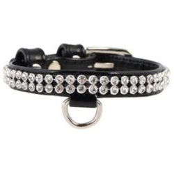 Dogman, halsband, collar brilliance, 9mm/19-25cm, svart