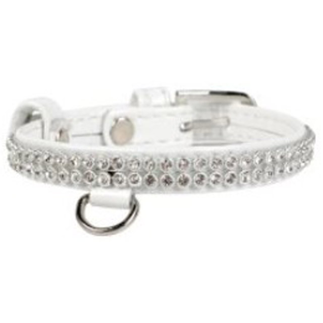Dogman, halsband, collar brilliance, 9mm/19-25cm, vit