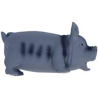 Dogman, latexgris m. pipljud, 23cm, grå