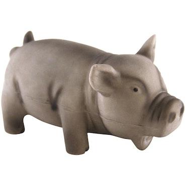 Dogman, latexgris m. pipljud, 15cm, grå