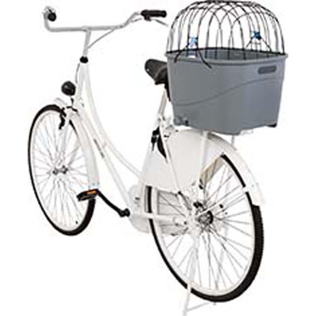 Trixie, cykelkorg, 36x47x46cm, grå