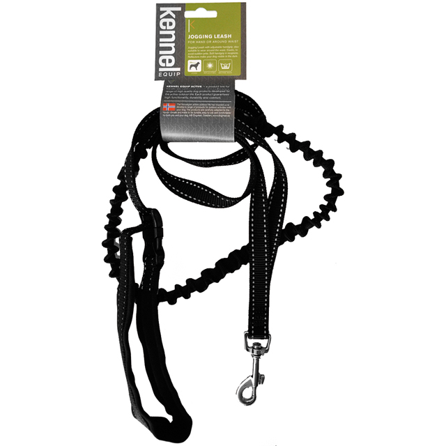 Kennel Equip, koppel elastiskt, svart, 25mm/180cm