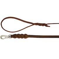 Alac, läderkoppel långt, brun, 220-250cm