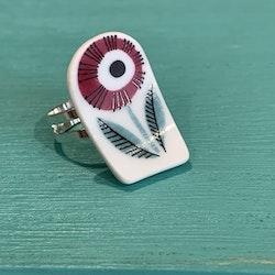 Porslinssmycke ring