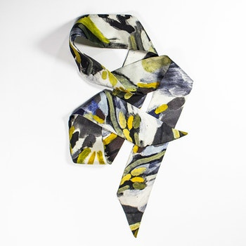 Lucy Jane Turpin Leopard siden twilly-scarf