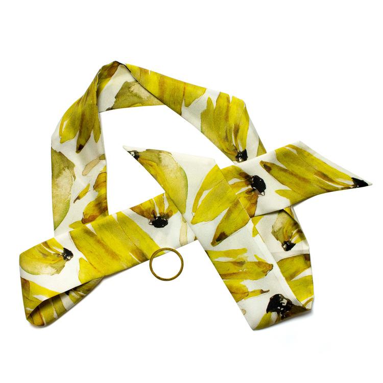 Twilly scarfette med gula bananer