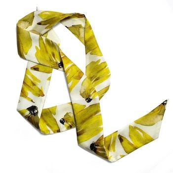 Victoria Verbaan Bananas siden twilly-scarf