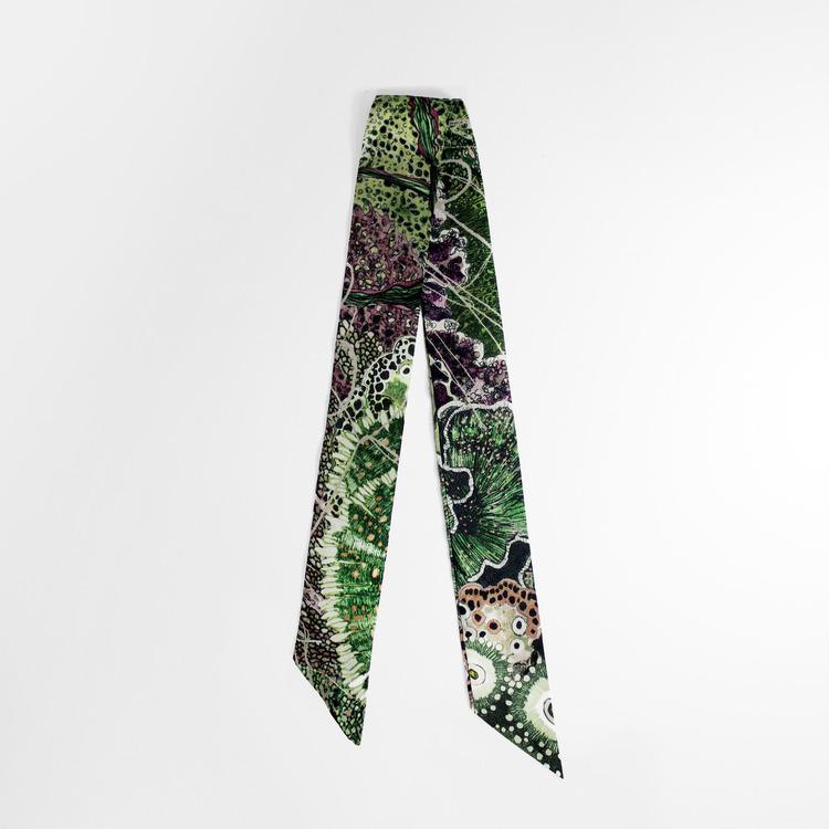 Twilly scarfette i gröna toner