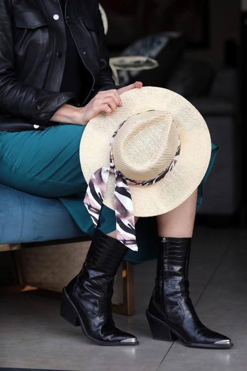Victoria Verbaan Zebra siden twilly scarf