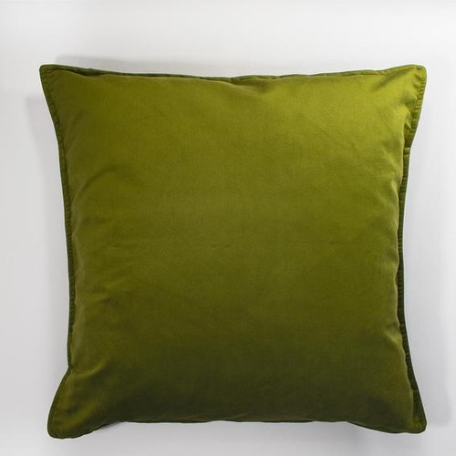 Sammetkuddfodral i olivgrönt 60 x 60 cm