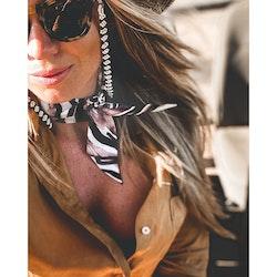 Victoria Verbaan Zebra siden twilly-scarf