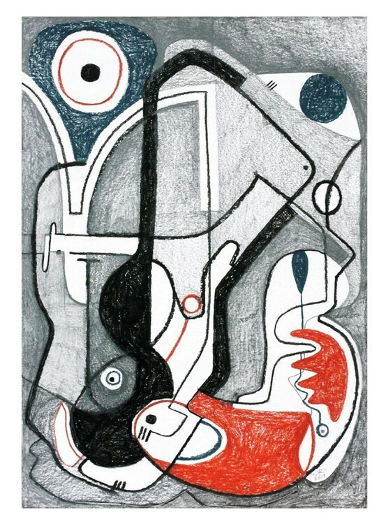 Renée Rossouw Lines Drought Röd kuddfodral i sammet 60 x 60 cm