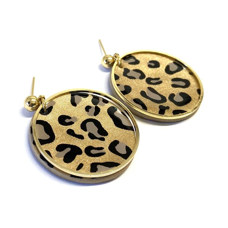 Willow örhängen guld leopard