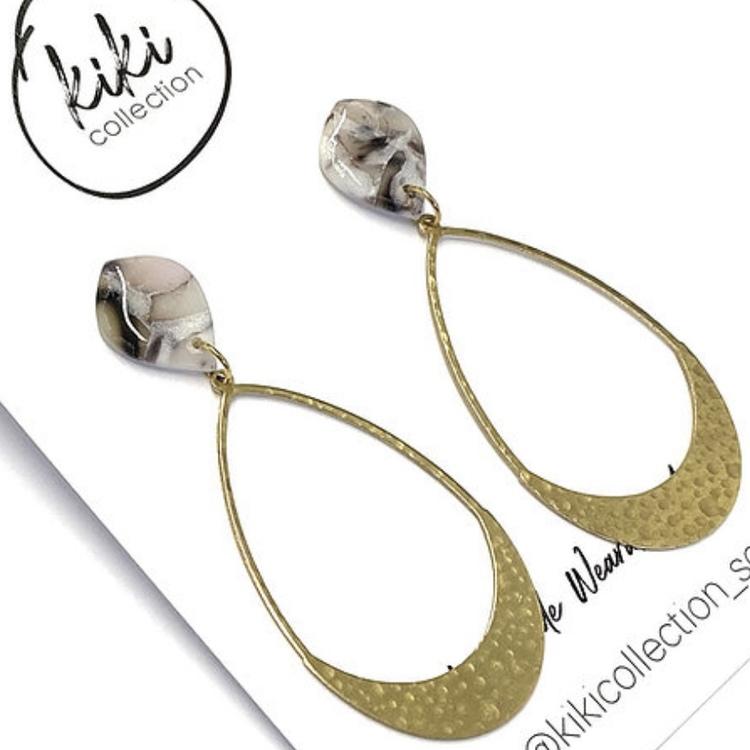 Diane örhängen marmor