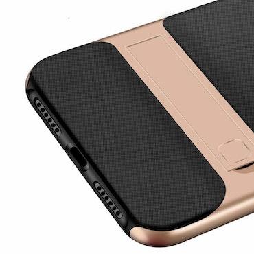 iPhone skal med kickstand silver