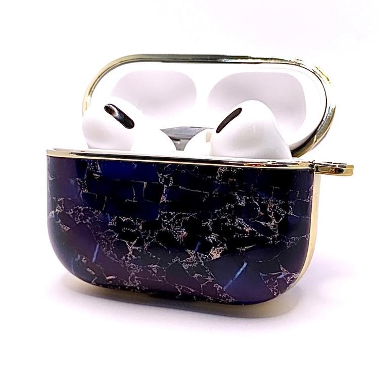 Apple AirPods Pro skal/fodral Marmor&Guld