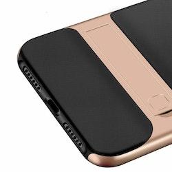 iPhone skal med kickstand rose guld