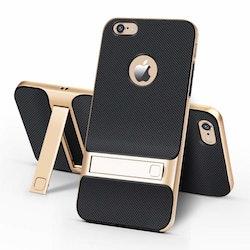 iPhone skal med kickstand guld