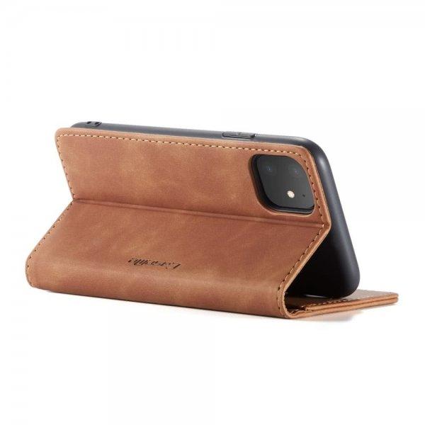CaseMe Plånboksfodral för iPhone - Ljusbrun