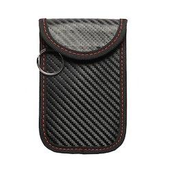 Skyddsfodral keyless-nycklar kolfiberlook - Svart/Röd