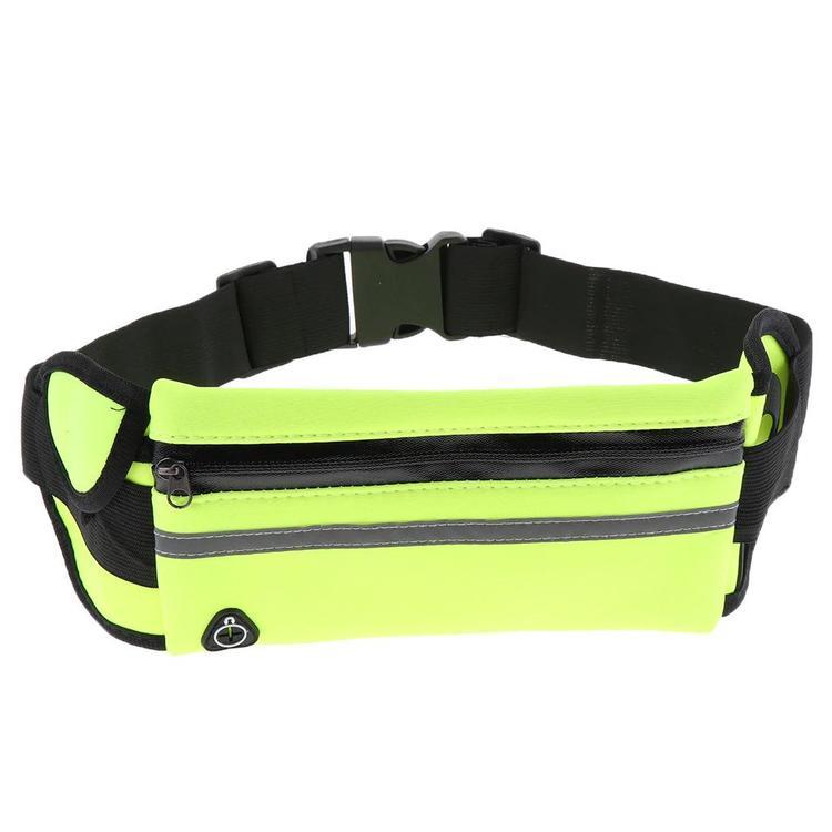 Löparbälte med reflex - Grön