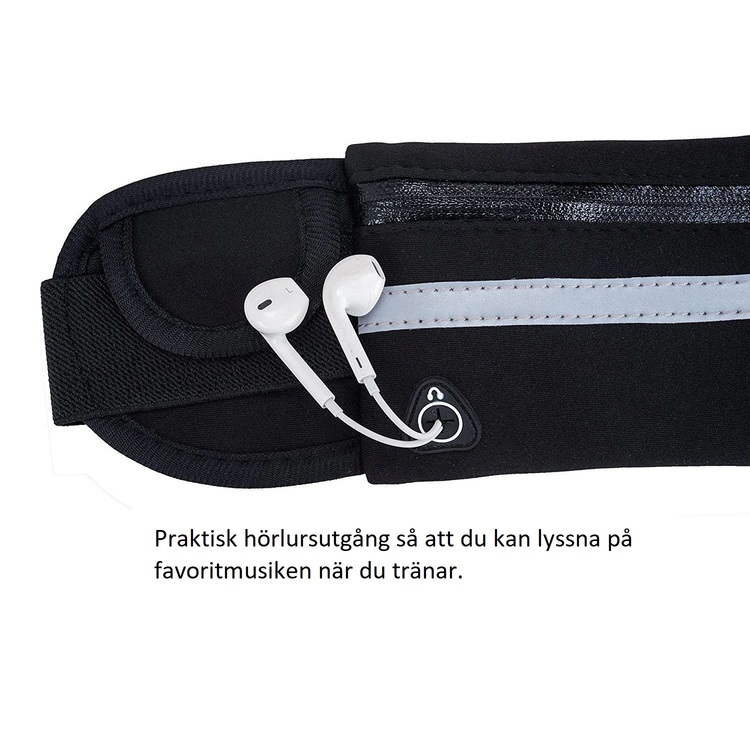 Löparbälte med hörlursuttag