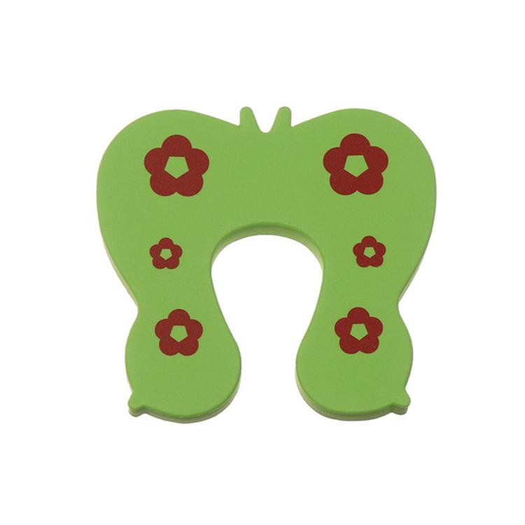 Klämskydd dörr - Grön fjäril