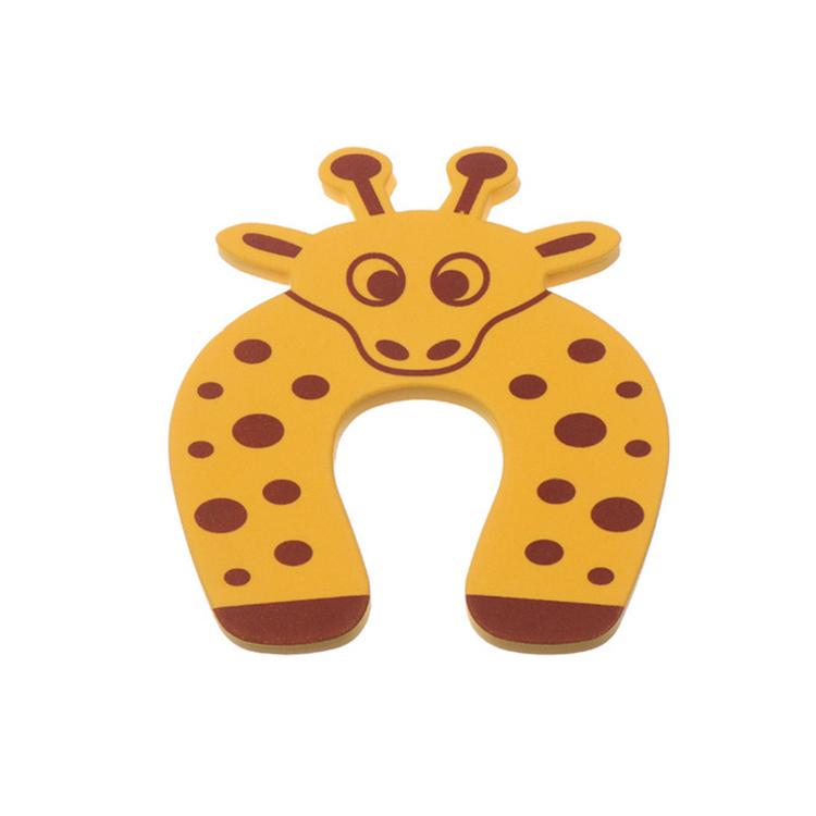 Klämskydd dörr - Gul giraff