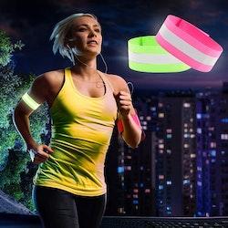 Elastiskt reflexband 2-pack - Flera färger