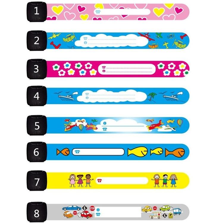 Infoband ID-armband för barn 5-pack