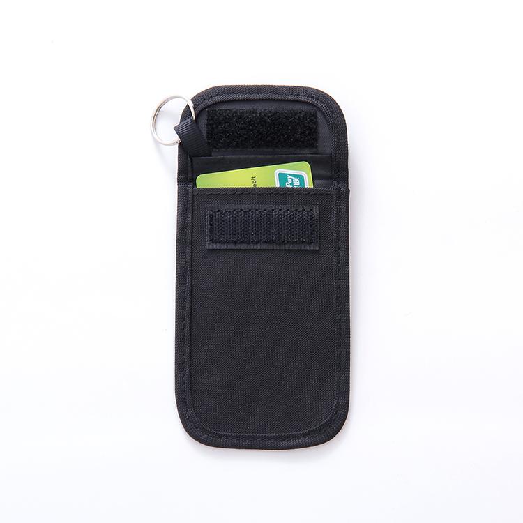 SKyddsfodral för bilnyckel - Svart tyg - Öppen