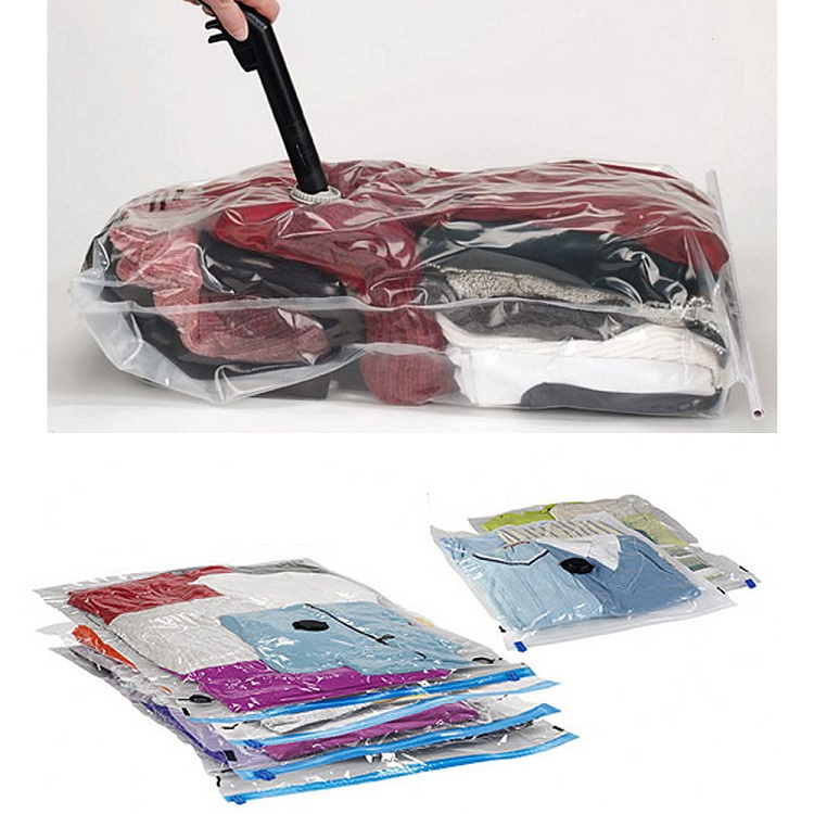 Praktisk vakuumpåse för kläder, täcken och kuddar