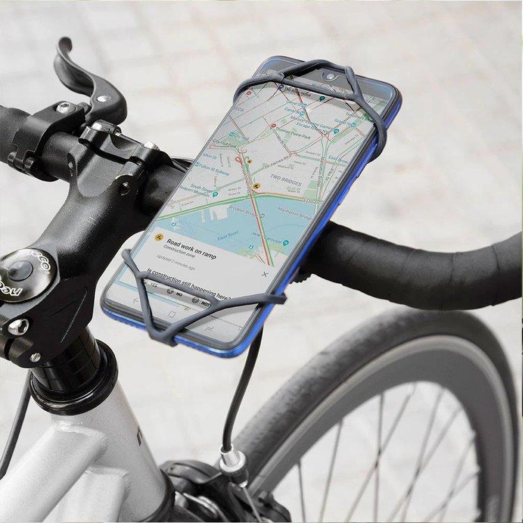 Mobilhållare för cykelstyret
